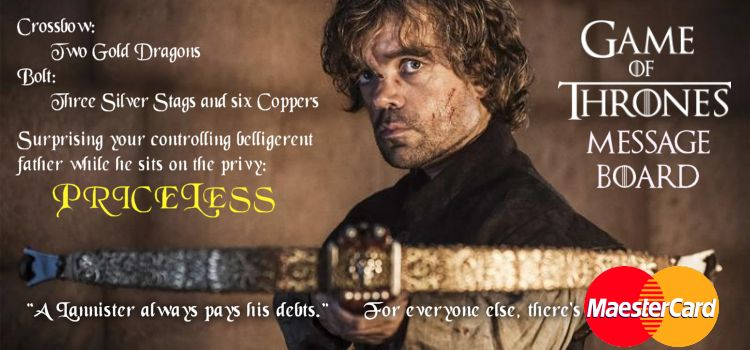 Game of Thrones Message Board